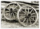 only two wooden wheels