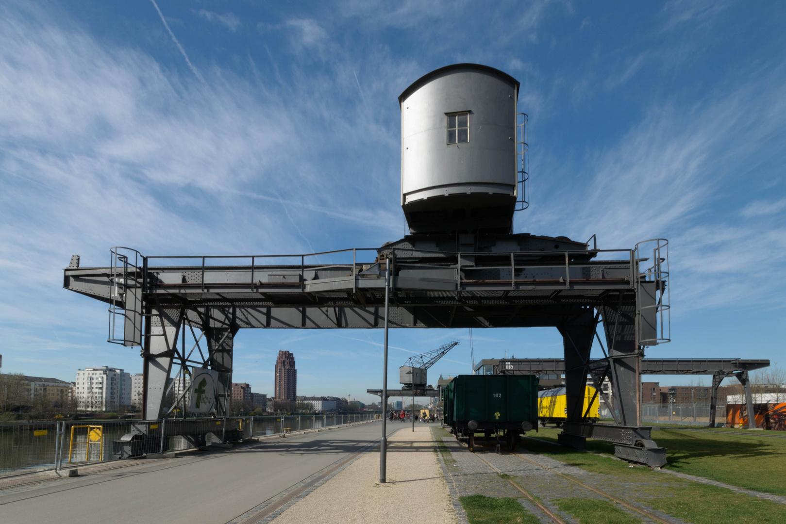 Oostenwerft Verladekräne Osthafen FFM
