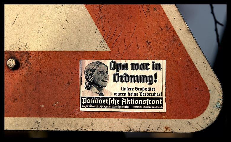Opa War In Ordnung Oder Nix Neues In Dunkeldeutschland Foto Bild