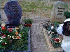 Opa`s und Benno`s Grabsteine nebeneinander***die Welt ist ungerecht.