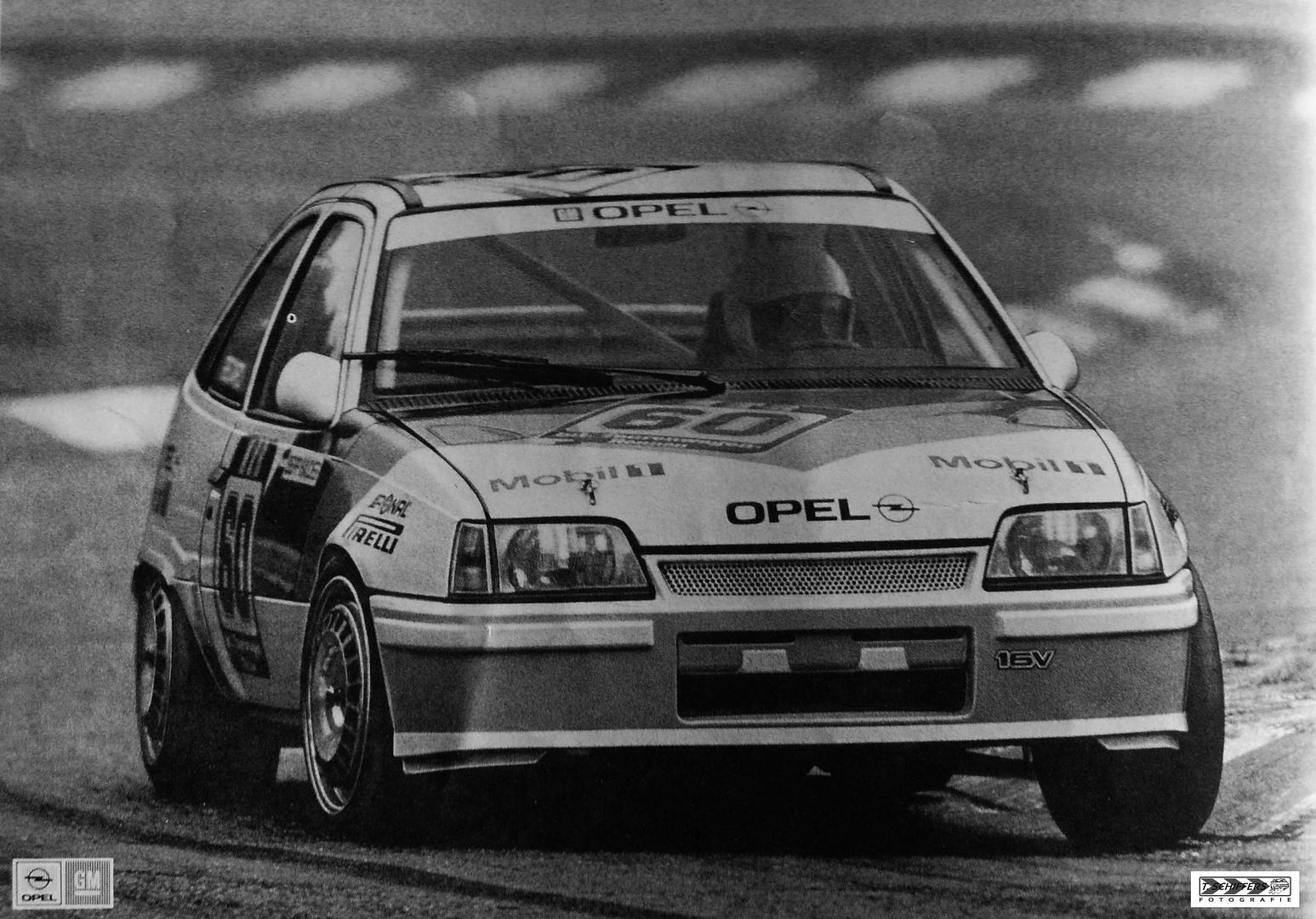 Opel Kadett E GSI 16 V @ Circuit Zolder 1988