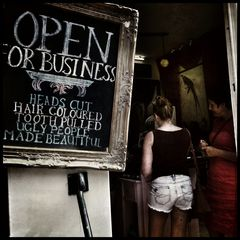 Open or business