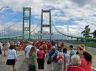 Opening Day of the Tacoma Narrows Bridge