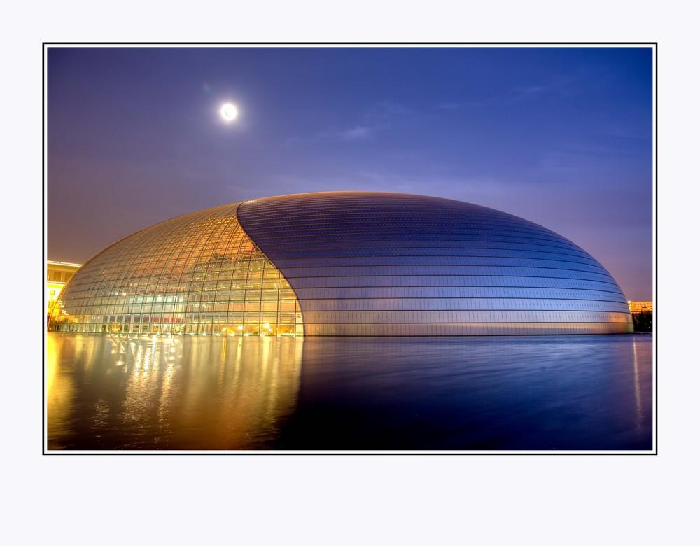Oper in Peking bei Mondschein