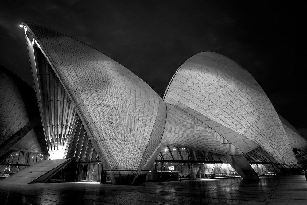 Opera House in Black and White