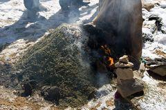 Opfer am Lalung La Pass