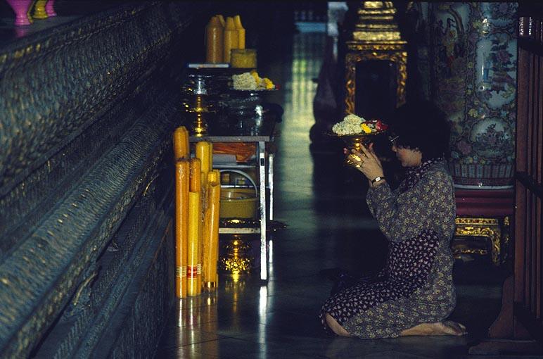 Opfer an Buddha