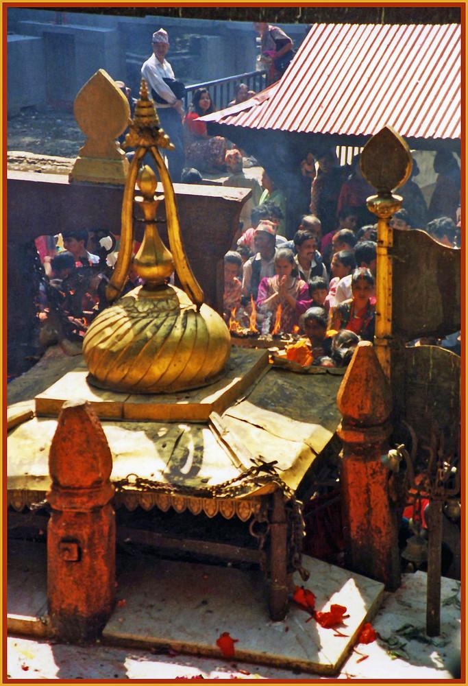 Opferstätte in Dakshinkali , Nepal