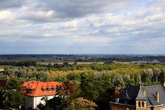Oppenheim - Blick von der Katharinenkirche nach Frankfurt