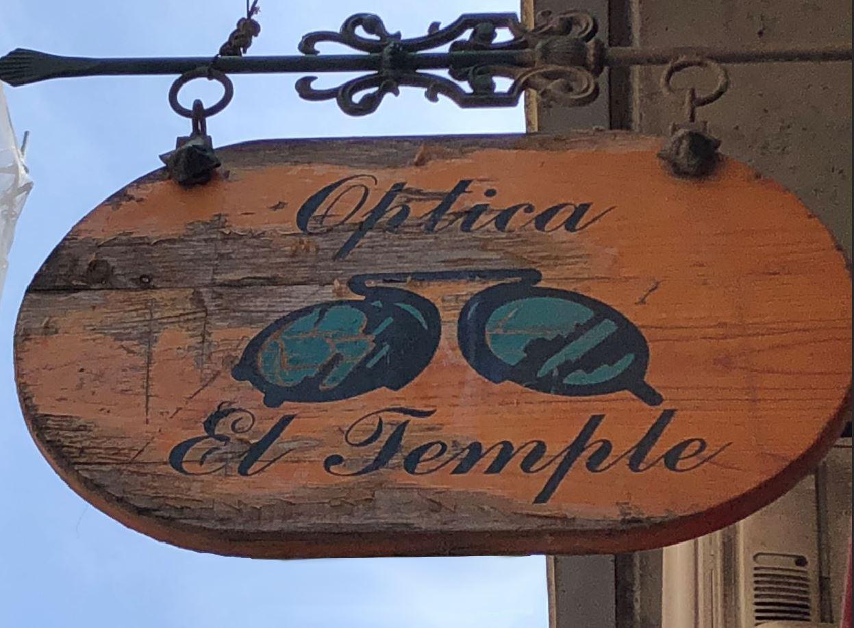 Optica El Temple Zaragoza - july 2019