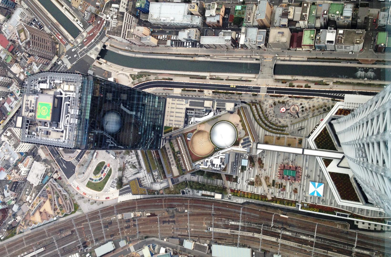 Optischer SKYFALL (vom Tokyo Sky Tree)