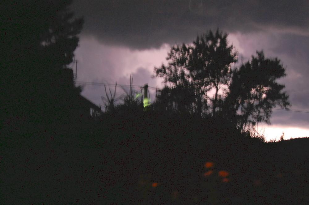 orage sur la campagne