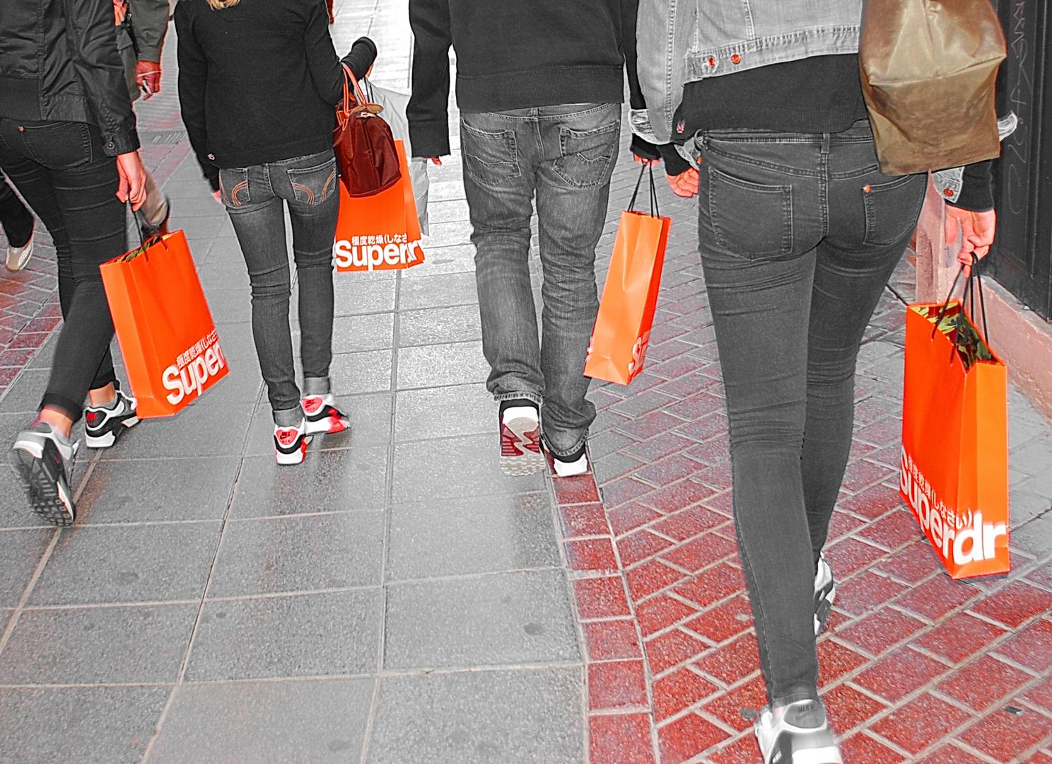 orange shopping