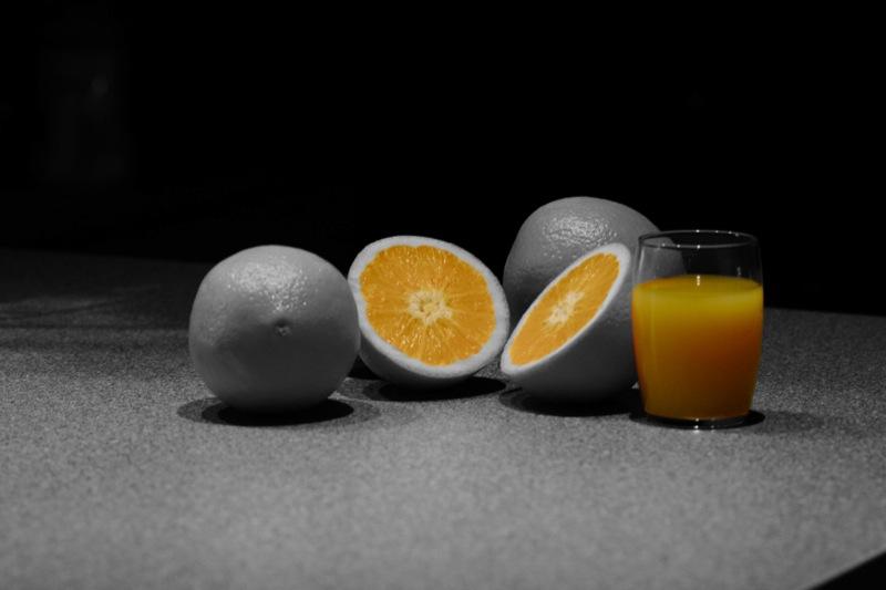 Orangen sind orange.