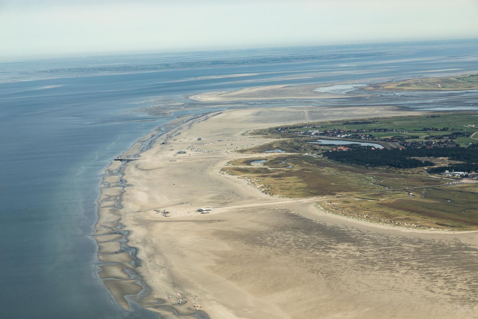Ordinger Nordstrand aus der Luft