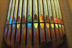 Organ Pipes in Colors of Gaudi