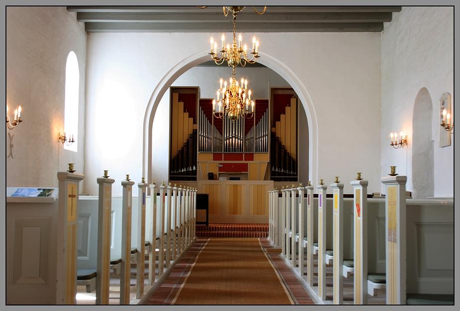 Orgel der Bindslev Kirke