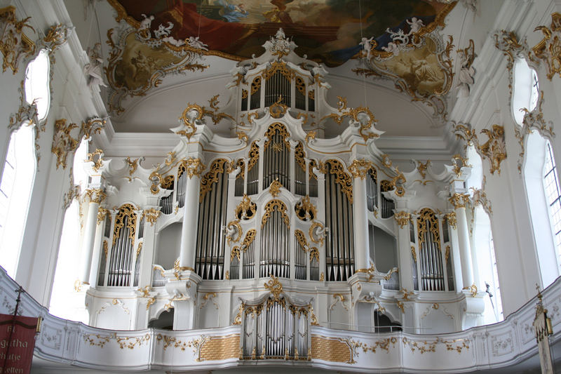 Orgelprospekt der Klosterkirche Roggenburg