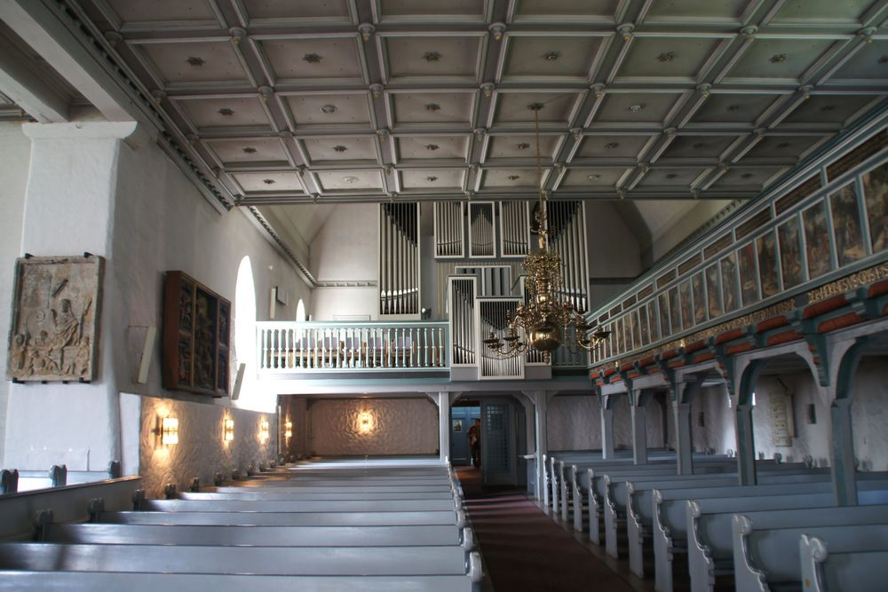 Orgelwerk und Empore von St. Jürgen in Heide
