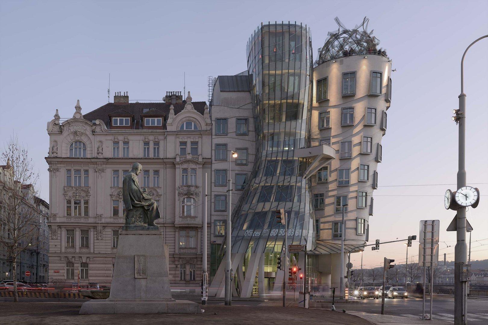 Original Image. Prague Building.