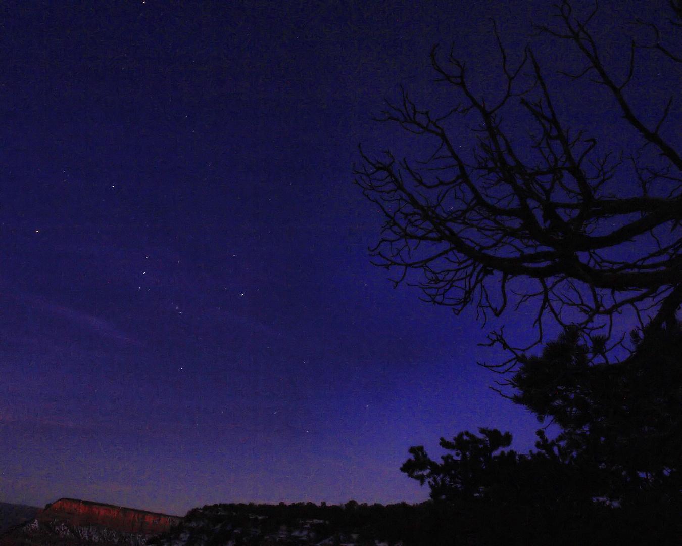 Orion espiando al Gran Cañon
