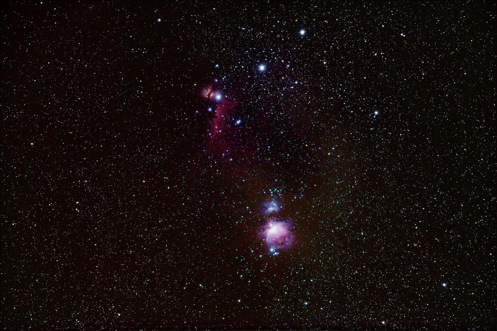 Orionnebel und Pferdekopfnebel