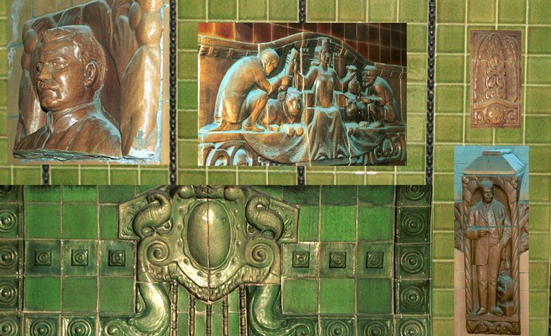 Ornamente im alten Elbtunnel