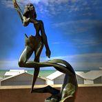 Orphée et Eurydice devant la mer