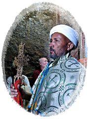 orthodoxer Priester in Lalibela..................