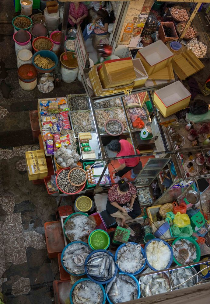 Orussey Markt in Phnom Penh, Cambodia