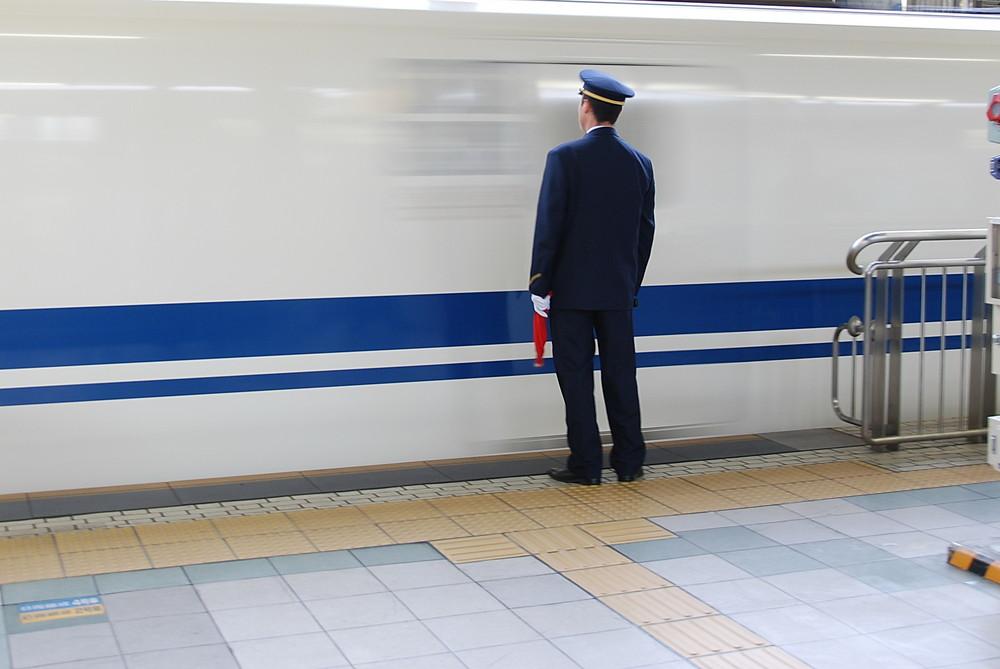 Osaka - Stationmaster and Shinkansen 700 series