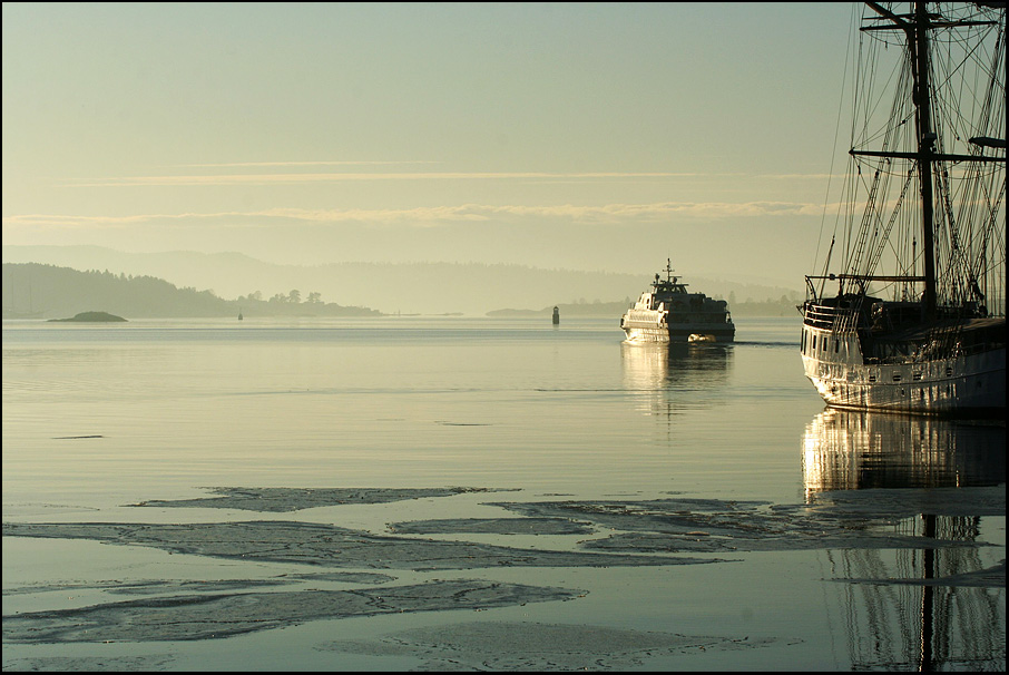 Oslo Fjord in Januar