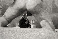 Oslo - Frau & Nikon...