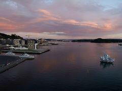 Oslo Hafen -Ansicht bei der Oper