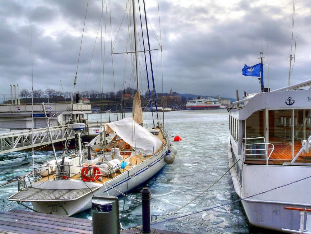 Oslo Hafen im Winter