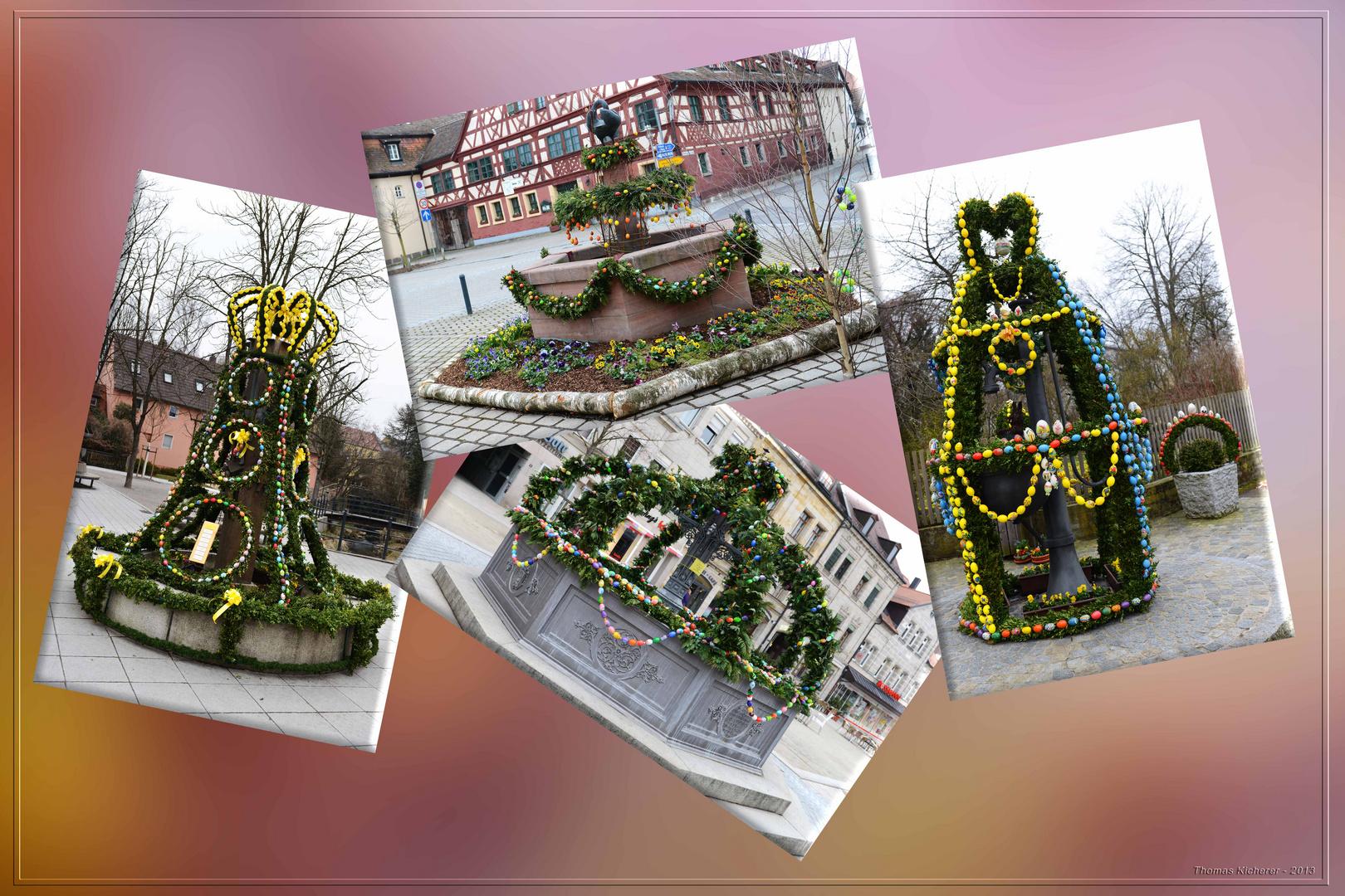 Osterbrunnen-Collage