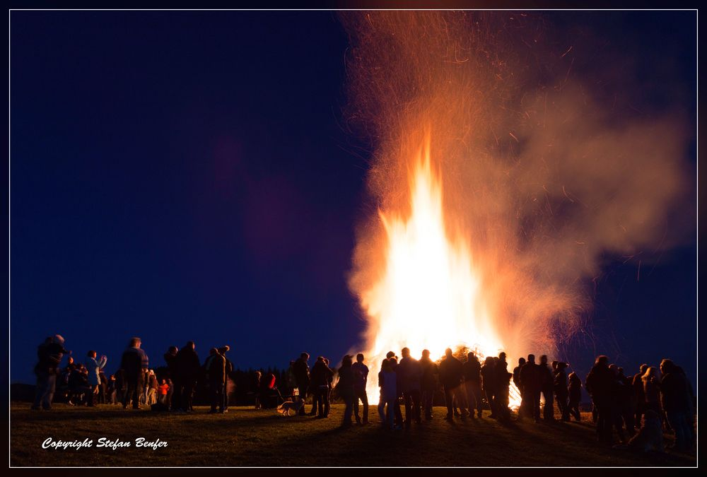 Osterfeuer in Bad Berleburg