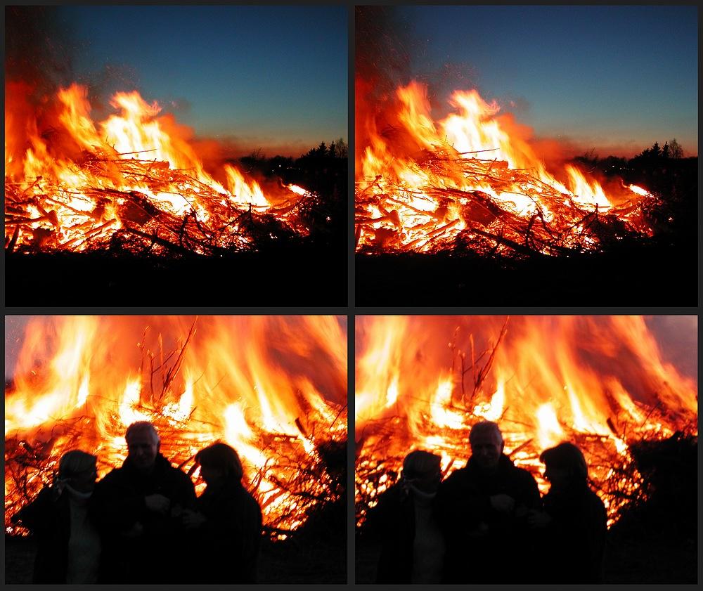 Osterfeuer sind schön warm....