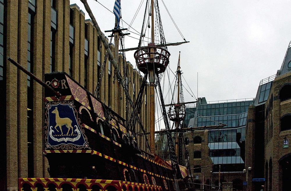 Ostern 2009 in London -->The Golden Hinde [Bild 08]