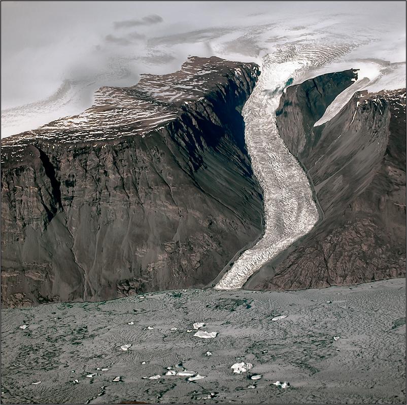 ostgrönländischer gletscher