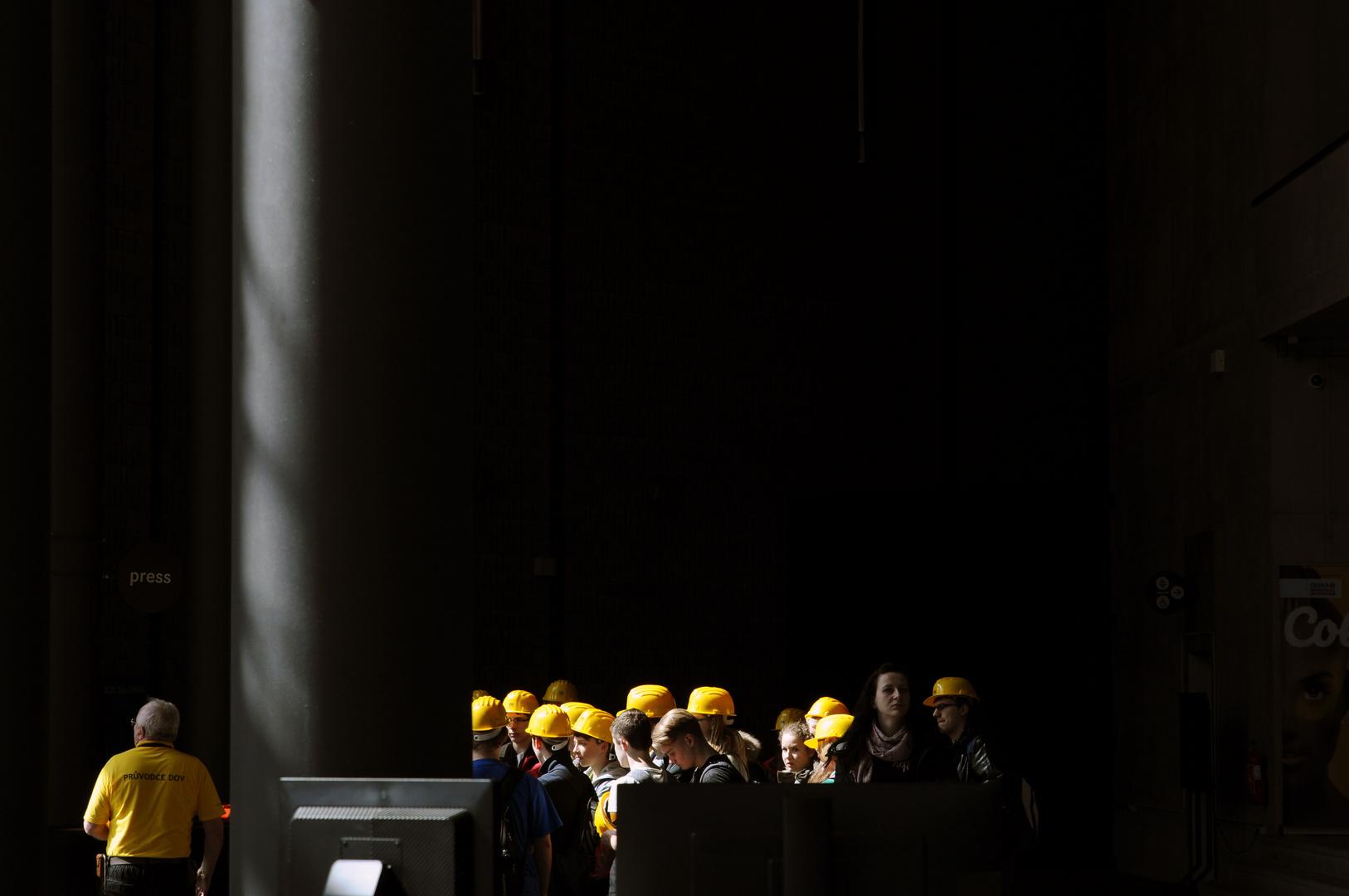 Ostrava, Stahlwerk bei Besichtigung