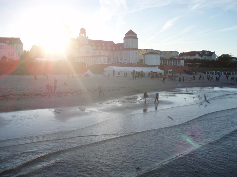 Ostseebad Binz mit untergehender Sonne