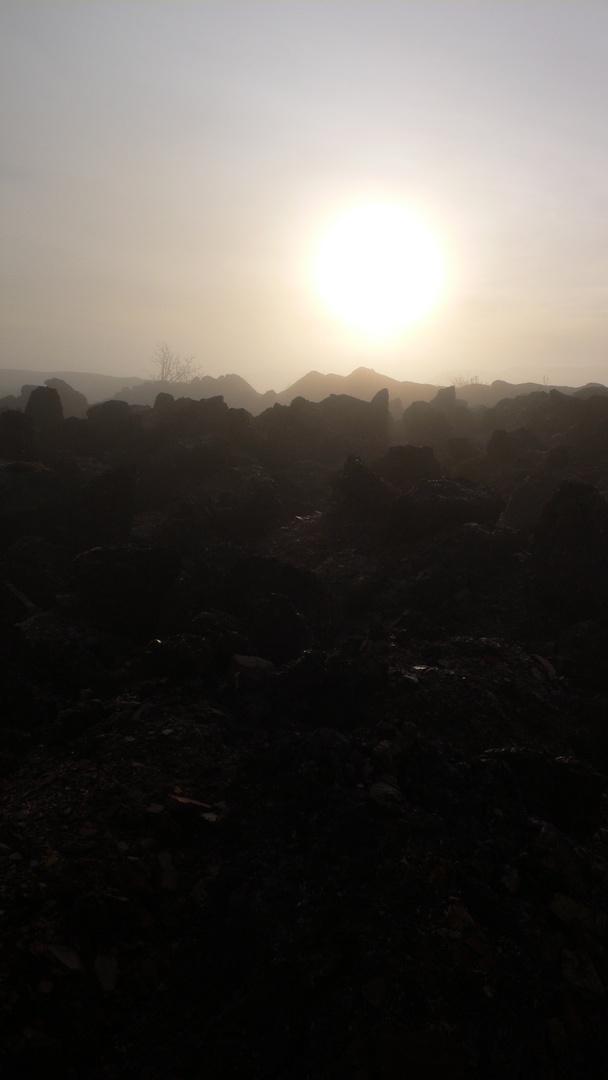 Otherworldly landscape, Winchburgh Shale Bing
