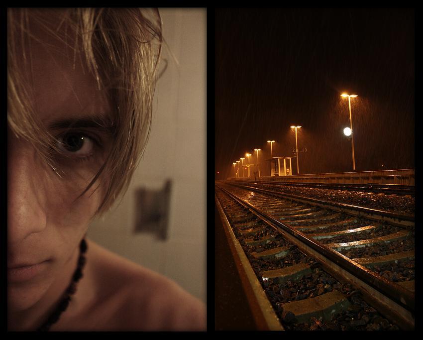 Out at the train tracks I dream of escape