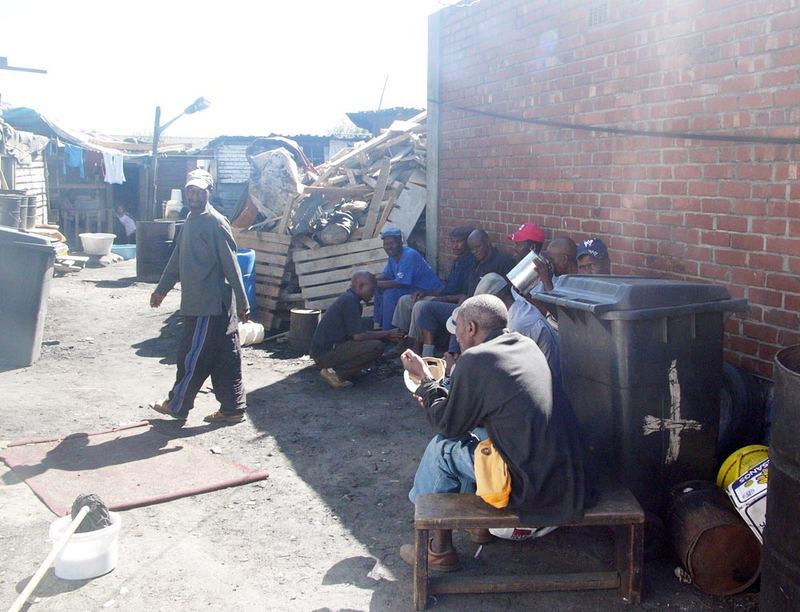 Outside a shebeen - Langa Township