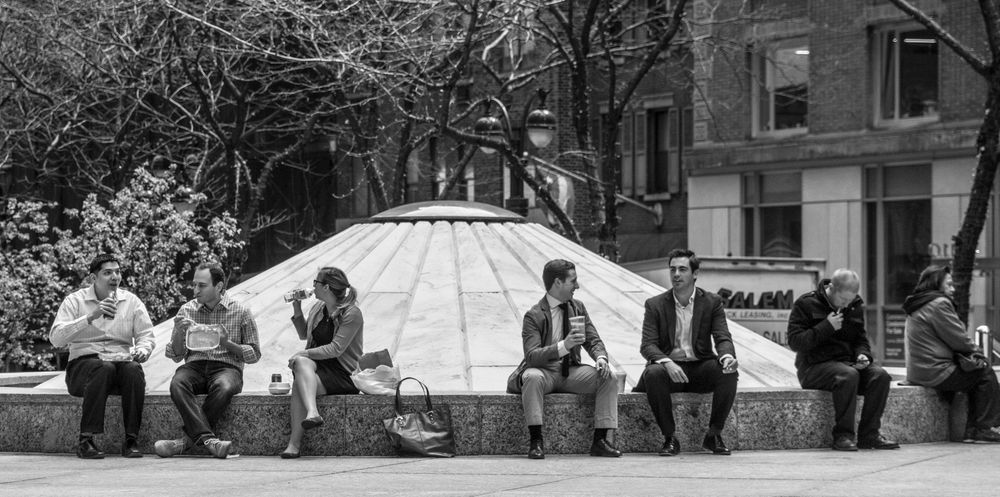outside lunches, manhattan, new york