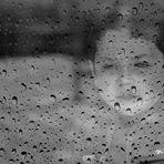 Outside, the rain