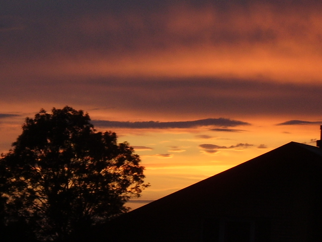 Over my roof.