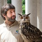Owl with handler
