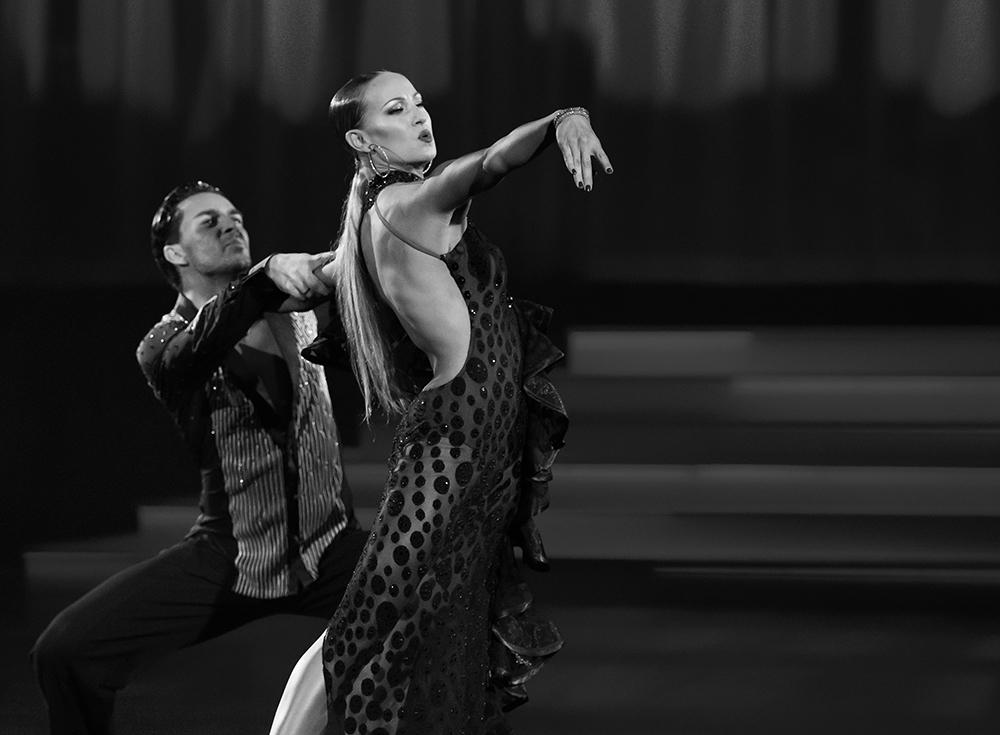 """Oxana Lebedev und Ilia Russo """"Die Rumba in Schwarz-Weiss"""" (2)"""